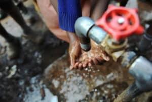 Hand washing water National Geographic RipplAffect Slide